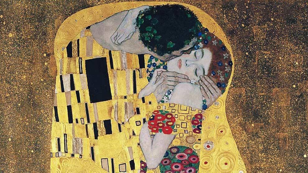 'El Beso', una de las obras m�s famosas del pintor austr�aco Gustav Klimt