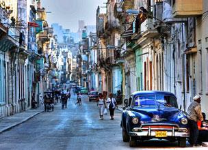 Panor�mica nocturna de La Habana.