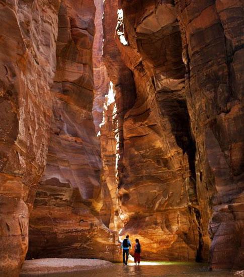 Los cañones de Wadi Mujib son auténticos prodigios de la naturaleza.