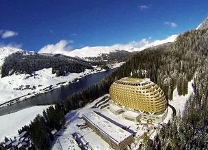 Vista panor�mica de Davos, ubicada a 1.560 metros de altura, en plenos Alpes suizos.