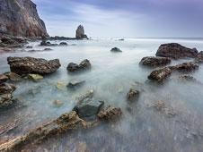 La Playa del Silencio y sus 500 metros de largo. | Fotos: Roberto Iv�n Cano.