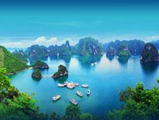 Vista panor�mica de la Bah�a de Halong, situada en el norte de Vietnam.