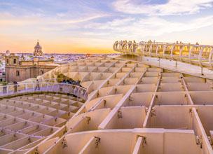 Las 'setas' de la ciudad, dise�adas por el alem�n J�rgen Mayer, tienen una vista panor�mica de la ciudad.
