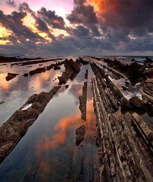 Estos 13 kil�metros de litoral forman parte del primer Geoparque de la Costa Vasca.