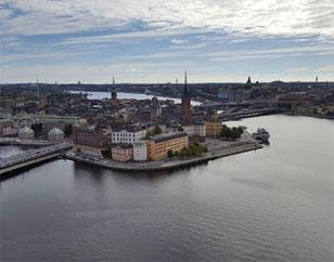 Panor�mica de la ciudad de Estocolmo.